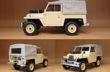 A Land Rover Lightweight in 1:18, at last